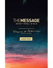 The Message Devotional Bible, Large Print (Softcover): Featuring Notes and Reflections from Eugene H. Peterson