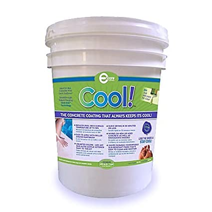 Cool Decking Pool Deck Paint - Coating for Concrete and Decks - Waterproof  Concrete Paint that Repairs, Seals, and Cools Your Pool Deck Surfaces -