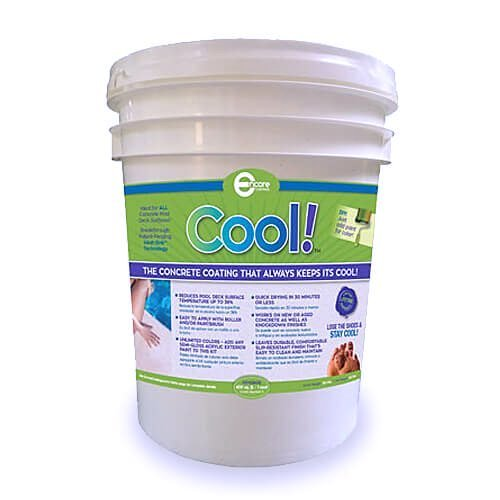 Cool Decking Pool Deck Paint - Coating for Concrete and Decks - Waterproof Concrete Paint that Repairs, Seals, and Cools Your Pool Deck Surfaces - Covers 150 Square Feet of Deck (Best Deck Over Paint)