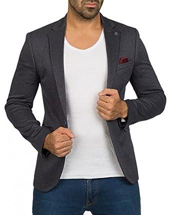 74da165a457d BestStyle - Veste Costume Homme Bleu Slim fit Classe  Amazon.fr ...