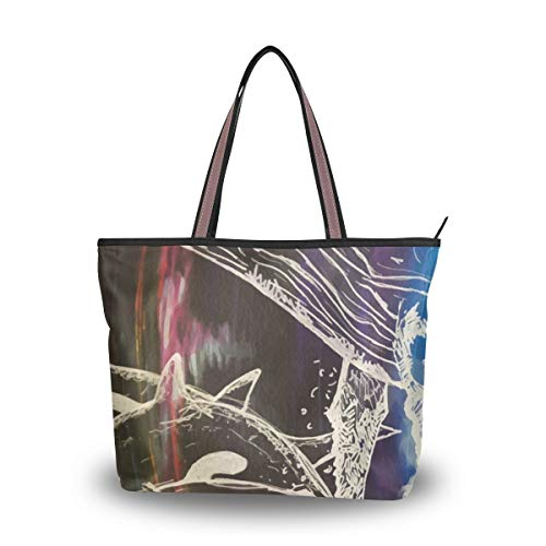 Tote Bag With Drawn Killer...