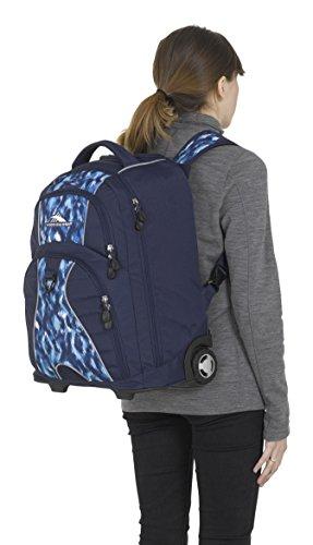 High Sierra Freewheel Wheeled Laptop Backpack, True Navy/Island Ikat by High Sierra (Image #4)