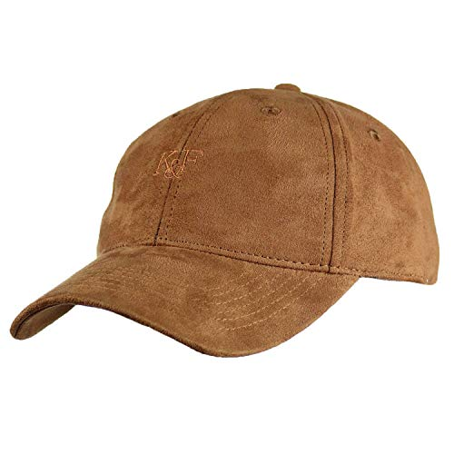Baseball Hats for Men & Women by King & Fifth | Baseball Hat with Low Profile & Stylish Fabric + Baseball Caps + Tan Suede Baseball Cap