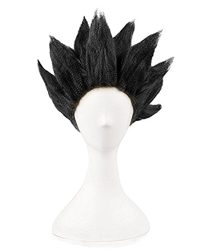UU-Style Unisex Anime Wig Black Adult and Child Son Goku Cosplay Costume Kids Halloween Wig (90s Tv Halloween Costumes)