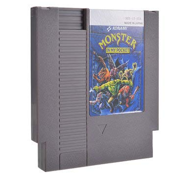 in My Pocket 72 Pin 8 Bit Game Card Cartridge for NES - Games Accessories Cartridge For Nintendo - 1 x Monster in My Pocket Game Cartridge