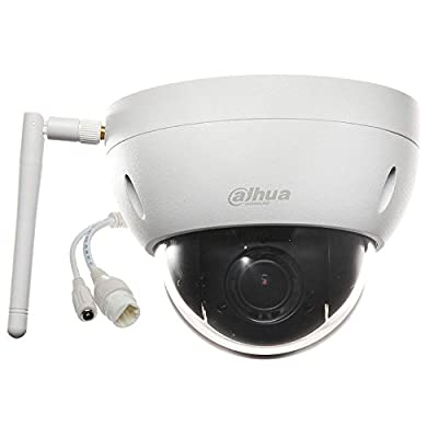 Dahua SD22204T-GN-W HD WiFi PTZ Outdoor IP Security Camera Motorized Vandal Dome, Pan/Tilt/2.7mm~11mm 4x Motorized Zoom, 2-Megapixel,SD Card Recording,IP66 and IK10 Proof, ONVIF (No Night Vision) from Dahua