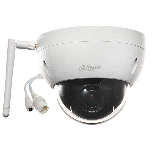 Dahua SD22204T-GN-W HD WiFi PTZ Outdoor IP Security Camera Motorized Vandal Dome, Pan/Tilt/2.7mm~11mm 4x Motorized Zoom, 2-Megapixel,SD Card Recording,IP66 and IK10 Proof, ONVIF (No Night Vision)