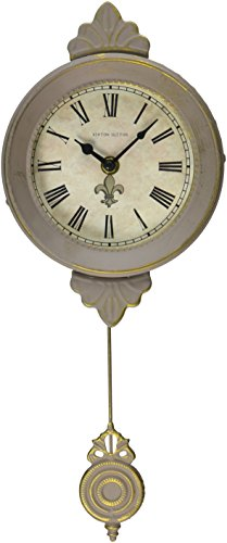 Ashton Sutton H1127-15GG Petite Pendulum Wall Clock