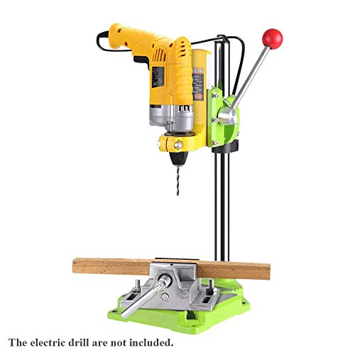 INLOVEARTS Floor Drill Press Stand Table Electric power Drill Press Stand Table Rotary Tool Workstation Drill Press Work Station with 0-90 Degree Rotating Fixed Frame for Drilling Collet Table