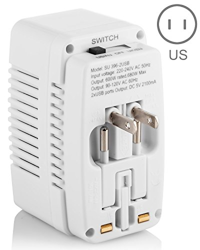 rated with 4 USB Charging Po... Yubi Power voltage Converter 110V to  220V 500w