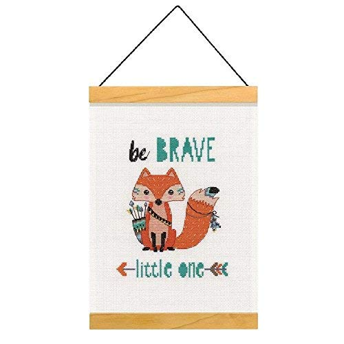 Dimensions Counted Cross-Stitch Kit, ''Be Brave Little One'', 14 Count White Aida, 8''L x 11.5H''