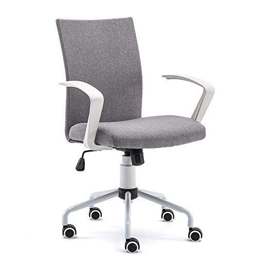 Hbada Mordern Grey Swivel Fabric Adjustable Height Home Office Chair for Computer