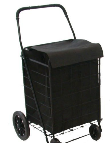 LavoHome Jumbo Folding Premium Shopping Grocery laundry Cart-With Free Bonus Black Cart Line by LavoHome