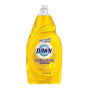 Dawn Ultra Plus Baking Soda Alternative Dishwashing Liquid, Lemon and Citrus Scent, Yellow,  19-Ounce