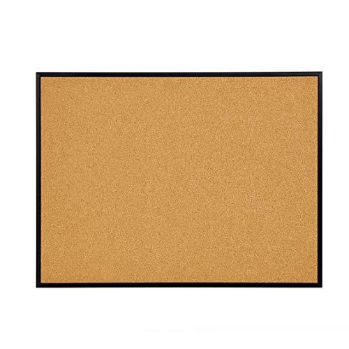 (INNOVART Cork Board, Bulletin Board, 48 x 36 Inch, Black Aluminum Frame Corkboard with Push Pins (4'H x 3'W) )