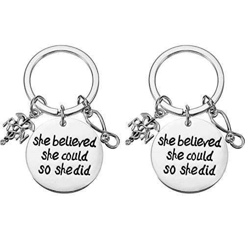 (Zhanmai 2 Pieces Nurses Keychains Gifts for Nurse Doctor Medical Student, Nursing Keychain Makes Wonderful Nurses Gift)