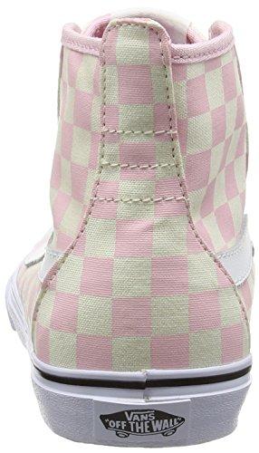 Sneakers Femme barely Vans checkerboard Dazie Rose Pink hi Hautes FfwxqxHn4