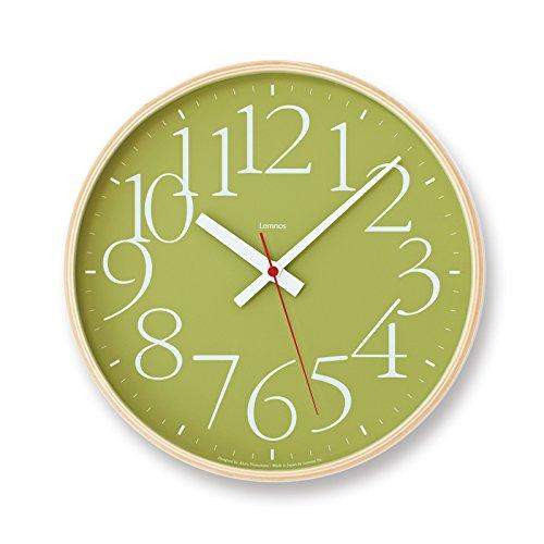 Lemnos タカタレムノス AY clock RC 電波時計 AY14-10 掛け時計 ウォールクロック グリーン B06W55JSCV