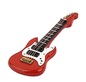 1/12 Dollhouse Miniatura Instrumento Musical Juguete Guitarra Eléctrica de Madera (Rojo): Amazon.es: Hogar