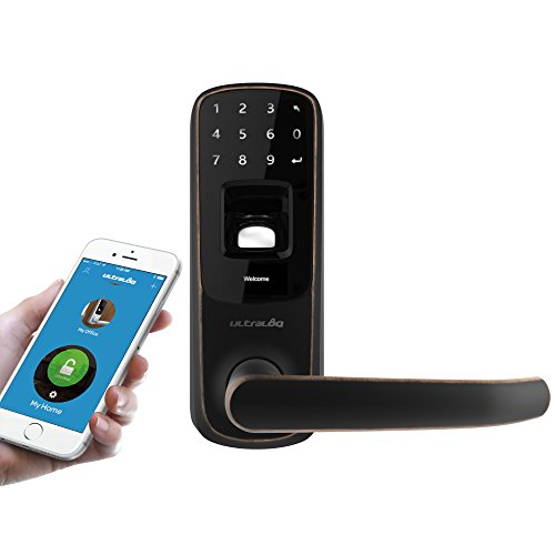 Ultraloq UL3 BT Bluetooth Fingerprint and Touchscreen Keyless Smart Door Lock, Aged Bronze