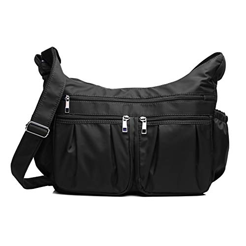 Crossbody Bags for Women, Multi Pocket Shoulder Bag Waterproof Nylon Travel Purses and Handbags - Pocket Shoulder Bag Purse