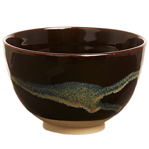DoMatcha - Ceremonial Bowl, Traditional Ceramic Japanese Green Tea Matcha Powder Chawan, Deep Ocean