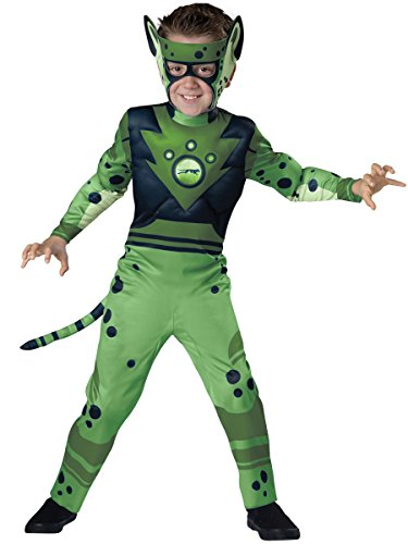 InCharacter Costumes Cheetah - Green Costume, One Color, (Wild Kratt Costume)