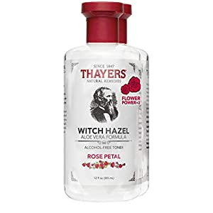 Thayers Alcohol-Free Rose Petal Witch Hazel Facial Toner with Aloe Vera Formula , 2 Pack – (2 x 12 ounce bottles)