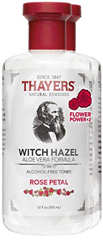Thayers Natural Remedies Alcohol-Free Rose Petal Toner, 12 oz, (Pack of 2)