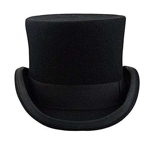 Ztl Unisex Wool Felt Top Hat Victorian