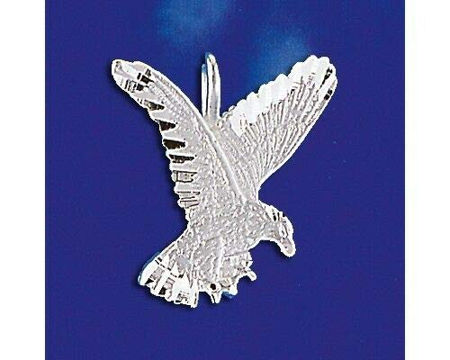 Sterling Silver Hawk Pendant Falcon Eagle Design Italian Charm Solid 925 Italy Jewelry Making Supply Pendant Bracelet DIY Crafting by Wholesale Charms