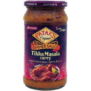 (Patak's Original Simmer Sauce Tikka Masala Curry (creamy tomato,Lemon,Cilantro & spices)15 oz. (pack of 2))