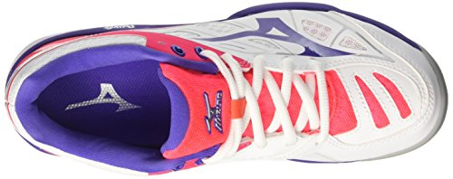 Mizuno Women's Wave Exceed Cc (W) Tennis Shoes Multicolour (White/Liberty/Divapink 67) rfUWG37uBr