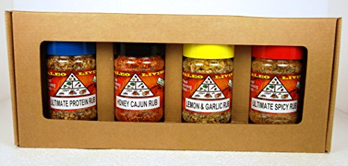 Paleo - Whole 30 - All-Purpose Spices by PALEO LIVING Spices {LIMITED EDITION} 4-Combo Pack Seasonings Collection Set can be used for Cooking, Grilling & with Cookbooks