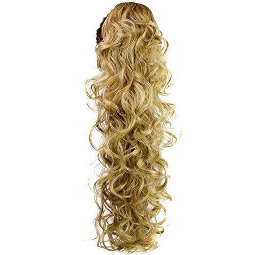 NRUTUP Long Clip-in Curly Claw Jaw Ponytail Clip In Hair Extensions Wavy Hairpiece Hot Sales(C,Free Size)