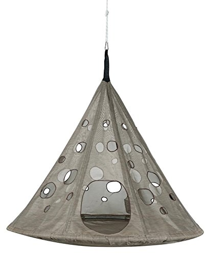 Flower House FHMDBRK MoonDrop Hanging Chair, Bark
