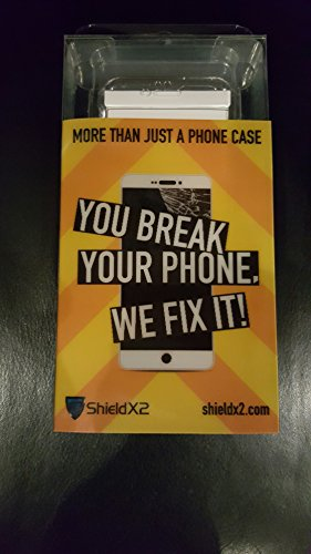 Iphone 6+ ShieldX2 Transparent Phone Case and Screen Protector –More Than Just A Phone Case. YOU BREAK IT, WE FIX IT (the case must be on and we will repair - Plans Insurance Glasses