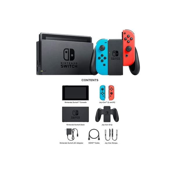 Nintendo Switch Bundle: 32GB Console Red and Blue Joy-Con, Nintendo Switch Wheel (set of 2), Deluxe Travel Case and… 6