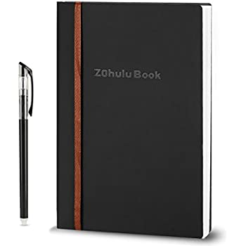 ZOHULU Smart Wirebound Notebook, Reusable, Erasable, Water-to-Erase, Cloud Storage App Notebook(Black) - New Designed for Gift Option
