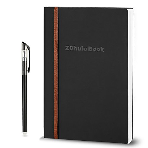 ZOHULU Smart Wirebound Notebook, Reusable, Erasable, Water-to-Erase, Cloud Storage App Notebook(Black) - New Designed for Gift Option by ZOHULU