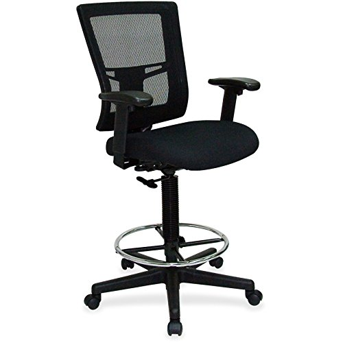 Lorell LLR43100 Breathable Mesh Drafting Stool, 73