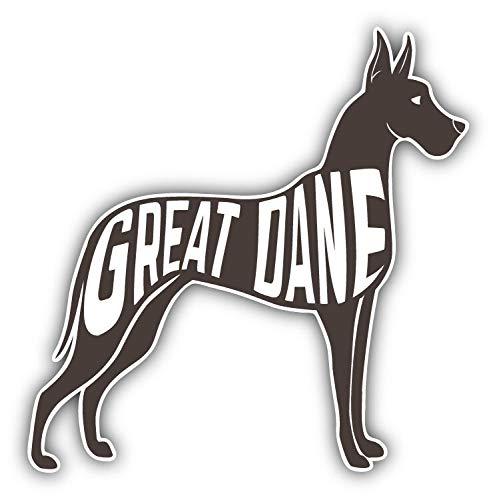 JJH Inc Magnet Great Dane Breed Dog Silhouette Flexible Vinyl Magnet Waterproof Car Magnetic Bumper Sticker 5