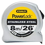 Powerlock Stainless Steel Tape 3/4'' X 8m/26', Lot of 1