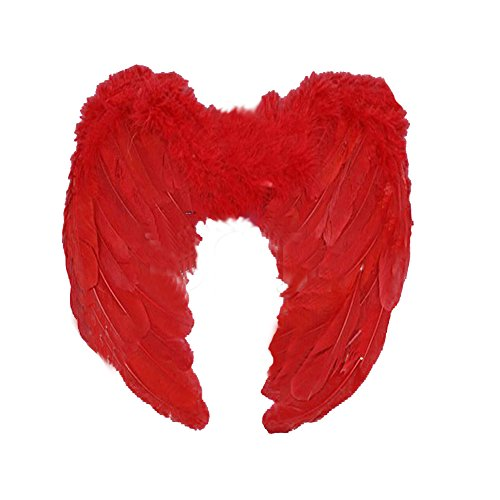 Heavenly Devil Child Costume (Angle Wings Costume, HUPLUE Kid Adult Angel Wings Fancy Dress Fairy Feather for Halloween Party Accessory)