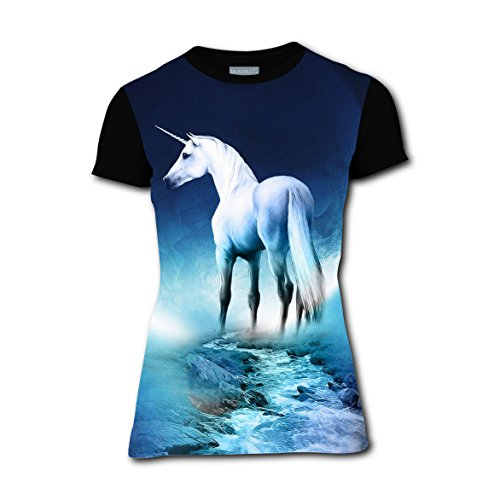 HELLOSHAO123 Unicorn UC Moon Women's Leisure Tshirt 3D Printed Tee Tops Gifts XXL