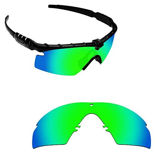 Alphax Emerald Green Polarized Replacement Lenses for Oakley Si M Frame 2.0 - Frame Platinum Mirror Lens