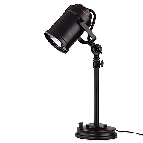 LED Adjustable Desk Lamp with Studio Shade in Oil Rubbed (Art Deco Bronze Table Lamp)