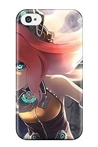 Excellent Design Blondes Vocaloid Cyborgsheadsnekomimi Animal Ears Bows Chains Aqua Mechanical Arm Seeu Bicoloredbare Shoulders Phone Case For Iphone 4/4s Premium Tpu Case