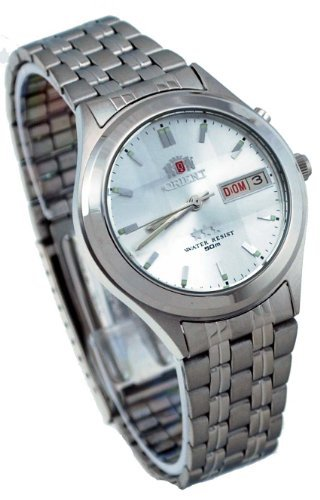 Orient #BEM5V002W Men's Facet Glass Stainless Steel Silver Dial Automatic Watch