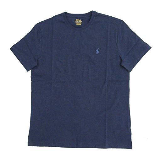 Blue Navy T-shirt Logo Classic - Ralph Lauren Men's Pony Logo T-Shirt (X-Large, Navy Heather/Steel Blue)